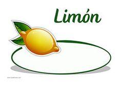 Cartel de precios para los limones de tu frutería. Etiquette, Creative Art, Art Sketches, Cherries, Garlic, Pumpkins, Printable Tags, Free Printable