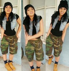 There are 6 tips to buy shorts, outfit, camouflage shorts, dope, tomboy. Shorts Outfits Women, Tomboy Outfits, Casual Summer Outfits, Short Outfits, Camouflage Shorts, Camo Shorts, Androgynous Fashion, Summer Chic, Clothes