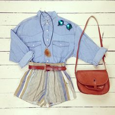 We just LOVE how versatile denim is🙌 Doesn't this shirt look fab with these sprinter shorts ? 😍😎 Shirt size L Shorts size S/M Bag Belt Sunnies Necklace Denim Ootd, Versatile Denim, Hologram, Just Love, Sunnies, Shorts, Instagram Posts, Summer, Leather