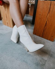 The Perfect White High Heel Booties | Miranda Schroeder Blog  www.mirandaschroeder.com