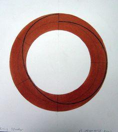 Robert Mangold ~ Ring Study, 2009 (mandala)