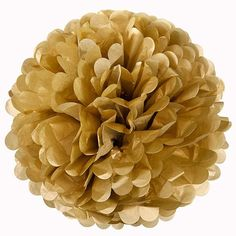 Gold Tissue Pom Pom – Large