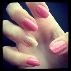 Love this pink color! Gel Shellac Nails, Manicure, Cute Nails, Pretty Nails, Pink Color, Colour, Amazing Nails, Cute Nail Designs, Pedi