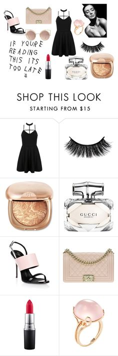 """ROSE"" by akidesekerii on Polyvore featuring moda, WithChic, Gucci, Giuseppe Zanotti, Chanel, MAC Cosmetics, Goshwara ve MANGO"