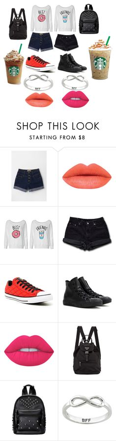 """""""Me and my cousin at Disneyland!"""" by pandacrew on Polyvore featuring interior, interiors, interior design, home, home decor, interior decorating, Levi's, Converse, Lime Crime and Prada"""