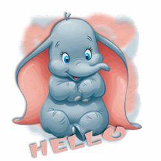 dumbo cartoon | Baby Dumbo Hugs Cute Cartoon