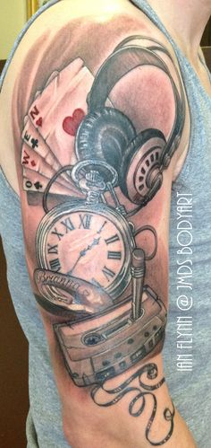 retro tattoo by Ian Flynn..awesomeness!!