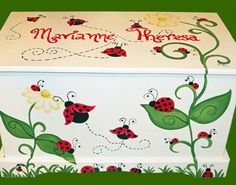 Ladybug Toy Box Custom Designed for you by originalsbybarbmazur, $269.00