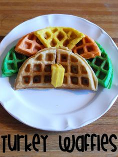 *Random Thoughts of a SUPERMOM!*: Gobble, Gobble: Turkey Waffles (Again)