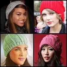 Elas também gostam de gorros: Beyoncé and Taylor Swift. / They also like caps : Beyoncé and Taylor Swift.