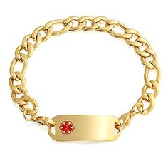 MENDINO Men/'s Stainless Steel Bracelet Flat Cuban Curb Link Wrist Polished Black