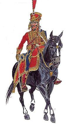3 Regimeinto de Hussars (oficial) Escrito por Texto Fernando BoanMontenegro   Domingo, 04 de Abril de 2010 11:50   13 regimiento de hussars   Formado el 1º de Septiembre de 1795 a partir de los Husares de los Alpes, disuelto en 1796, vuelto a formar con reclutas de la Toscana y Roma en Enero de 1813 y vuelto a disolver en Diciembre de 1813, pasando a integrar el 14º de Husares, , en Enero de 1814 se vuelve a formar con los Husares de Jerome Napoleon.