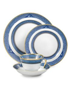 Blue Romance - D Magazine Mottahedeh Indigo Wave Dinnerware Dinnerware Sets, China Dinnerware, Blue China, China China, China Plates, Tea Service, China Patterns, White Porcelain, Indigo