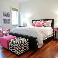 Eclectic Teen Girl Contemporary Bedroom Pink Design, Pictures, Remodel, Decor and Ideas - page 9