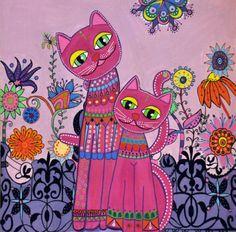Les-chats-de-Talie-reproduction-Cat-print-Decoration-Chambre-enfant-Nursery-mur