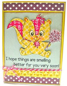 PK-288 Skunk Cheer Up Set: Peachy Keen Stamps   Home of the original clear, peach-tinted, high-quality whimsical face stamps.