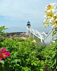 Beautiful shot of Marshall Point Lighthouse in Port Clyde, Maine from Lighthouses and Beyond.