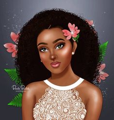 CAPTION 🌸🌸 I feel like drawing a wedding collection but. Black Love Art, Pretty Black Girls, Black Girl Art, My Black Is Beautiful, Art Girl, Black Girls Pictures, Drawings Of Black Girls, African American Art, African Art