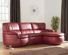 The only thing better than a leather sofa is a red leather sofa!