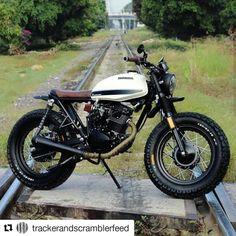 See a variety of my most popular builds - modified scrambler bikes like this Suzuki Motos, Honda Scrambler, Cafe Racer Motorcycle, Honda Motorcycles, Vintage Motorcycles, Motorcycle Hair, Grom Motorcycle, Yamaha, Suzuki Cafe Racer