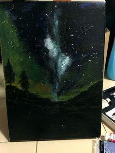 First time try,Drwaing night Sky Night Sky Drawing, Night Skies, First Time, Northern Lights, Drawings, Nature, Painting, Art, Aurora Borealis