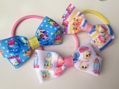 Shopkins Boutique Hairbow Elastic Ties by OliverandMay on Etsy