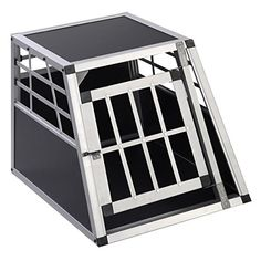 New Solid Aluminum Dog Transport Box Dog Crate Kennel Pet Playpen Cage w/Lock 28''H -- More info could be found at the image url.