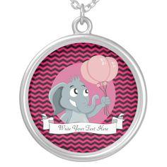 Elephant cartoon custom necklace