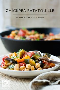 Chickpea Ratatouille #vegan