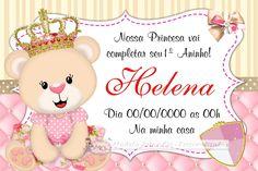 Convite - Ursinha Princesa                                                                                                                                                     Mais