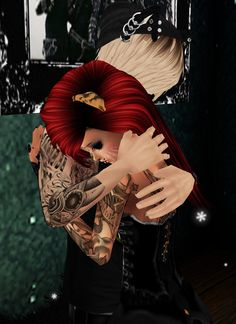 Captured Inside IMVU - Join the Fun! that picture is so beaitful a friend caring for a friend thats what a real friend do