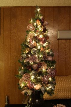 4 Foot Glittered and Jeweled Themed Christmas Tree by Mastery of Maps, via Flickr