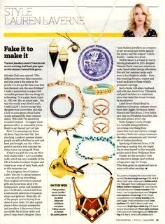 The Observer Magazine. Lauren Laverne. Magazine. 7th July 2013 #coopslondon #coops #laurenlaverne #theobserver
