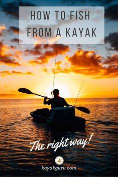 14 Kayak Fishing tips to help you catch even more... Kayak Fishing Tips, Kayaking Tips, Bass Fishing Tips, Fishing Bait, Halibut Fishing, Trout Fishing, Fishing Books, Fishing Stuff, Kayak For Beginners