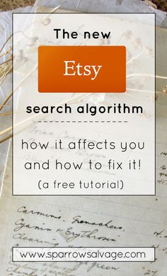 The big Etsy change - how it affects you and what to do about it - www.sparrowsalvage.com