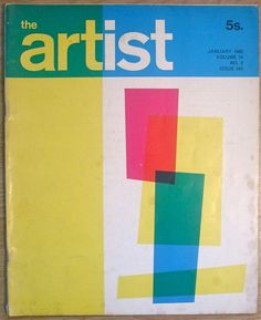 The Artist Magazine, January 1968 Vintage Graphic Design, Graphic Design Branding, Retro Design, Graphic Art, The Artist Magazine, Buch Design, Vintage Book Covers, Book Cover Design, Editorial Design