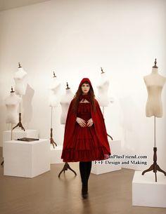 Ghost Bride in Burgundy, Elegant Gothic Lolita Retro Hoodie Mantle/Cape