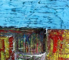 PAUL WESTAWAY, Cornish Tin Mine, Down Below, WEST CORNWALL, ACRYLIC Painting ON IRREGULAR BOARD Size A via Art From Cornwall. Click on the image to see more!