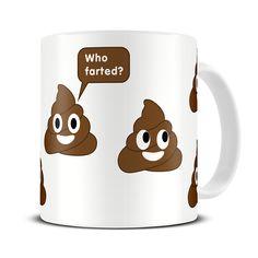 MG280 Magoo Who Farted Poop Emoji Coffee Mug – funny poo gifts