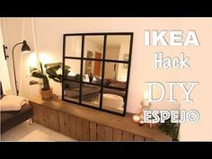 Deco white is a safe bet. Ikea Mirror Hack, Hack Ikea, Ikea Industrial, Industrial Mirrors, Window Mirror, Diy Mirror, Wall Mirrors, Pottery Barn Hacks, Diy Furniture