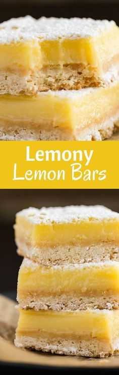Lemon Bars Recipe | Dessert | Easy | Made from Scratch | Homemade via @introvertbaker