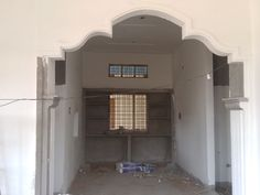 Arch Designs For Hall, House Arch Design, 2bhk House Plan, Compound Wall Design, Interior Ceiling Design, Pillar Design, Latest House Designs, Pop Design, House Elevation