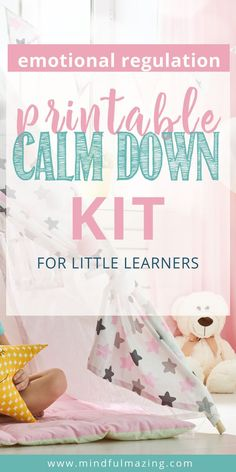 A Calm Down Corner will help you teach your kids strategies to calm down when they are upset, angry, or agitated. It includes detailed instructions on how to create a calm down corner, Mindfulness for Kids Mindfulness For Kids, Mindfulness Activities, Mindfulness Quotes, Mindfulness Meditation, Yoga For Kids, Exercise For Kids, Calming Activities, Activities For Kids, Calm Down Kit
