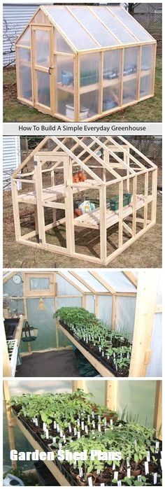 tutorial to build a simple everyday greenhouse on your own with simpler stuff that you might get for a few dollars.A tutorial to build a simple everyday greenhouse on your own with simpler stuff that you might get for a few dollars. Outdoor Projects, Garden Projects, Organic Gardening, Gardening Tips, Indoor Gardening, Gardening Quotes, Build Your Own Shed, Grow Your Own, Greenhouse Gardening