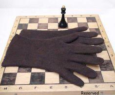 ON SALE 20% Off Felted men gloves Brown by vilnone on Etsy
