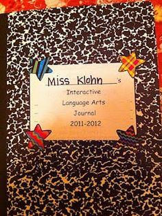 Interactive language arts journal