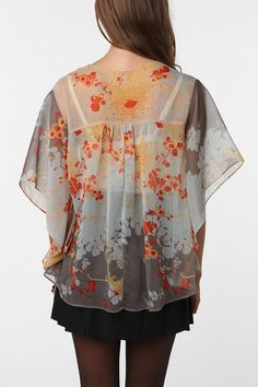 here's the back of the little kimono jacket