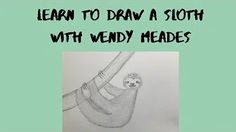 Learn to draw a sloth - YouTube Learn To Draw, Sloth, Activities For Kids, Art Projects, Learning, Drawings, Youtube, Learn Drawing, Learn How To Draw