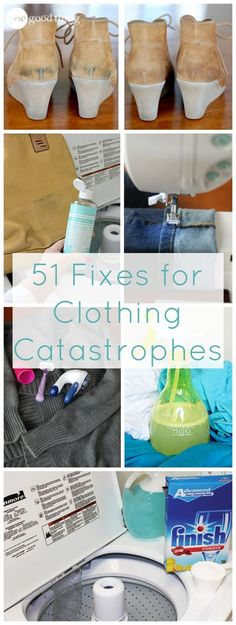 51 FAST FIXES FOR CLOTHING CATASTROPHES | Pife