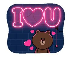 LINE Official Stickers - Brown & Cony Heart Melting Romance Example with GIF Animation Love Heart Gif, Love You Gif, Cute Love Gif, Still Love You, My Love, Cute Couple Cartoon, Cute Love Cartoons, I Love You Pictures, Love Images